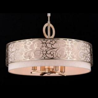 Casa Padrino Barock Decken Kronleuchter Gold 55, 8 x H 33, 2 cm Antik Stil - Möbel Lüster Leuchter Deckenleuchte Hängelampe