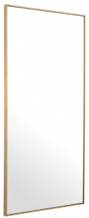 Casa Padrino Luxus Spiegel / Wandspiegel Messingfarben 90 x H. 180 cm - Garderobenspiegel - Wohnzimmer Spiegel - Luxus Qualität - Vorschau 2