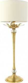 Casa Padrino Luxus Barock Tischleuchte Gold mit Swarovski Kristallen - Handgefertigt in Italien