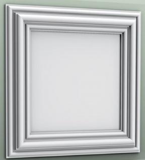 Casa Padrino Wandpaneel / Deckenpaneel Weiß 50 x 3, 2 x H. 50 cm - Barock & Jugendstil Deko Accessoires