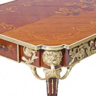 Casa Padrino Luxus Barock Schreibtisch Mahagoni Sekretär 120 cm - Antik Stil - Vorschau 4