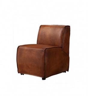 Casa Padrino Luxus Esszimmer Leder Stuhl Braun - Luxus Qualität