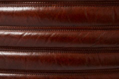 Casa Padrino Luxus Drehsessel Dunkelbraun / Silber 69 x 97 x H. 79 cm - Echtleder Sessel im Art Deco Design - Vorschau 5