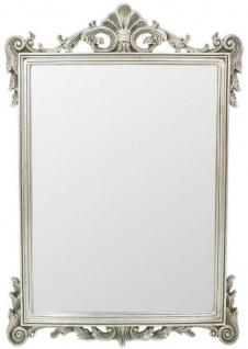 Casa Padrino Barock Spiegel Silber 75 x H. 110 cm - Wandspiegel im Barockstil - Antik Stil Garderoben Spiegel - Wohnzimmer Spiegel - Barock Möbel