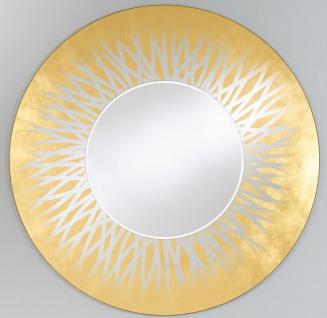 Casa Padrino Designer Wohnzimmer Spiegel / Wandspiegel Gold Ø 105 cm - Luxus Kollektion