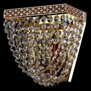 Casa Padrino Barock Wandleuchte Gold 17 x H 16, 5 cm Antik Stil - Wandlampe Wand Beleuchtung