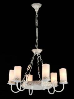 Casa Padrino Barock Decken Kronleuchter Weiß Gold 63 x H 43 cm Antik Stil - Möbel Lüster Leuchter Hängeleuchte Hängelampe