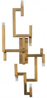Casa Padrino Luxus Wohnzimmer Edelstahl LED Wandleuchte Gold 30, 5 x 28, 5 x H. 73, 5 cm - Designer Wandlampe