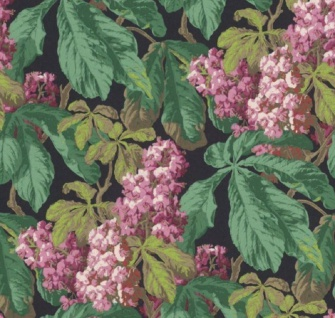 Casa Padrino Barock Vliestapete mit Blumenmuster Schwarz / Grün / Braun / Rosa / Lila 10, 05 x 0, 52 m - Deko Accessoires