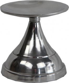 Casa Padrino Kerzenständer Aluminium 10 x H 10 cm - Shine Deco Dekoration - Vorschau