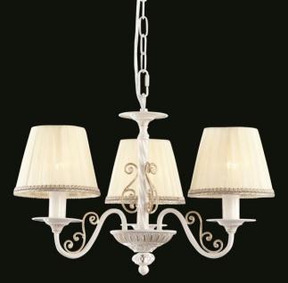 Casa Padrino Barock Decken Kronleuchter Weiß Gold 50 x H 34 cm Antik Stil - Möbel Lüster Leuchter Hängeleuchte Hängelampe