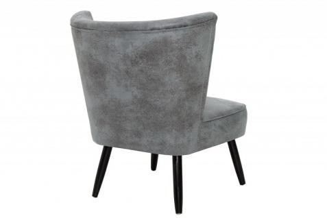 Casa Padrino 60er Jahre Retro Salon Sessel Antik Grau - Cocktailsessel Jahre 1960´s Sixties - Vorschau 4