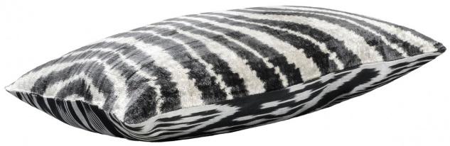 Casa Padrino Luxus Kissen Schwarz / Weiß 60 x 40 cm - Wohnzimmer Deko Accessoires