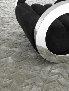 Casa Padrino Luxus Wohnzimmer Viskose Teppich Sandfarben - Verschiedene Größen - Luxus Qualität