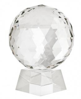 Casa Padrino Luxus Kristall Kugel auf Glas Ständer - Casa Padrino Luxus Collection