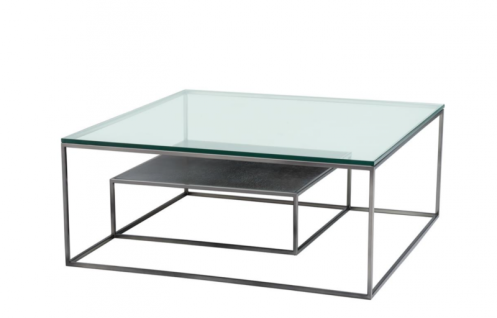 Casa Padrino Luxus Art Deco Designer Couchtisch 90 x 90 x H. 38 cm - Wohnzimmer Salon Tisch - Luxus Möbel