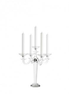 Casa Padrino Luxus Kristallglas Kerzenständer Durchmesser 43 x H. 38 cm - Limited Edition