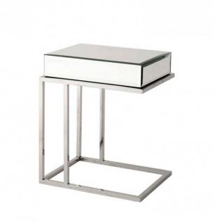 Casa Padrino Luxus Art Deco Designer Beistelltisch 50 x 40 x H. 60 cm - Luxus Qualität