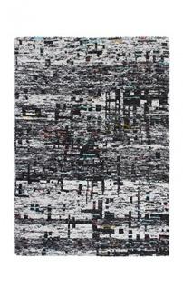 Casa Padrino Designer Seidenteppich Vintage Look Graphite - Handgeknüpft - Möbel Teppich Seide