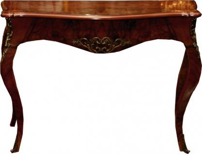 Casa Padrino Barock Konsole Mahagoni / Gold 105 x 40 x H. 85 cm - Antik Stil Möbel