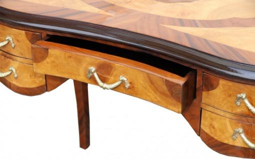 Casa Padrino Luxus Barock Schreibtisch Mahagoni Wurzelholz Furnier 100 x 80 x 58 cm- Sekretär Luxus Möbel - Vorschau 4