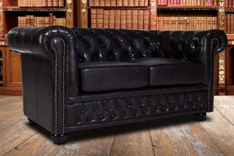 Casa Padrino Chesterfield 2er Sofa Dunkelbraun - Wohnzimmer Couch Möbel Braun - Vorschau 5