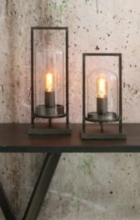 Casa Padrino Tischleuchte Antik Schwarz 17 x 14 x H 32, 5 cm - Leuchte - Tischleuchte - Vorschau 3