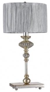 Casa Padrino Barock Tischleuchte Vintage Gold / Grau Ø 27 x H. 50 cm - Barockstil Tischlampe