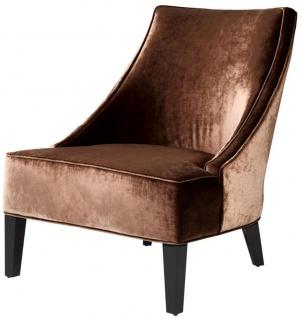 Casa Padrino Luxus Sessel Ägäisches Orange / Schwarz 70 x 88 x H. 85 cm - Hotel Möbel