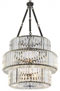 Casa Padrino Luxus Kristallglas Kronleuchter Rotguss 56 x H. 103 cm - Luxus Kollektion