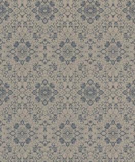 Casa Padrino Barock Tapete Grau / Blau 10, 05 x 0, 53 m - Textiltapete im Barockstil - Vorschau