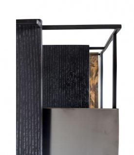Casa Padrino Luxus Designer Beistelltisch Schwarz 45 x 45 x H. 80, 5 cm - Designer Möbel - Vorschau 4