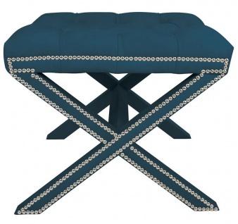 Casa Padrino Luxus Sitzhocker Eckig Kreuzhocker 56 x 54 x H 46 cm - Luxus Qualität - ALLE FARBEN - Neo Classic Vintage Style Hocker - Möbel