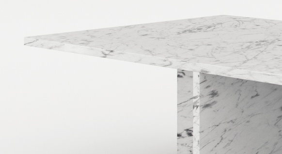 Casa Padrino Luxus Marmor Couchtisch Weiß 130 x 70 x H. 35 cm - Rechteckiger Wohnzimmertisch aus hochwertigem spanischen Carrara Marmor - Luxus Möbel - Vorschau 2