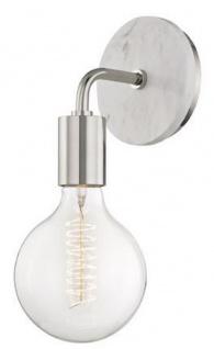 Casa Padrino Luxus Wandleuchte Silber / Weiß 12, 7 x 16, 5 x H. 33 cm - Hotel & Restaurant Wandlampe