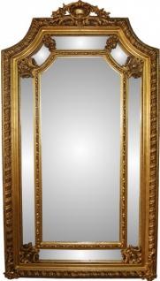Casa Padrino Barock Luxus Wandspiegel Gold B 117 cm, H 205 cm - Edel & Prunkvoll
