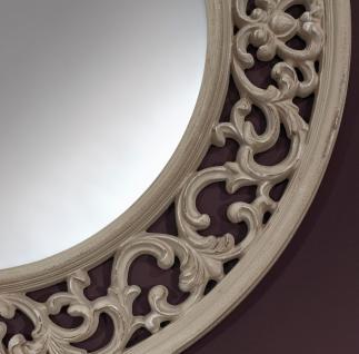 Casa Padrino Barock Spiegel Greige Ø 100 cm - Antik Stil Wandspiegel - Vorschau 2