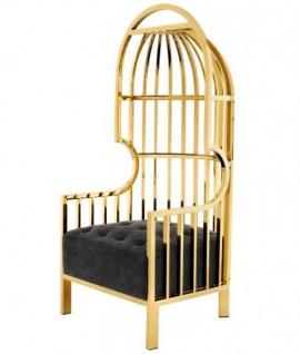 Casa Padrino Luxus Designer Art Deco Salon Sessel Gold - Luxus Kollektion