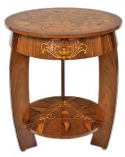 Casa Padrino Art Deco Beistelltisch Mahagoni Intarsien H65 x 75cm - Ludwig XVI Antik Stil Tisch - Möbel