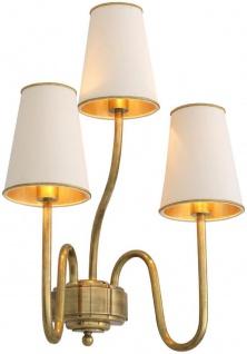 Casa Padrino Luxus Wandleuchte Vintage Messingfarben / Creme 36 x 24 x H. 52 cm - Hotel & Restaurant Wandlampe - Luxus Qualität