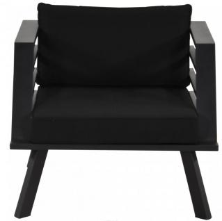 Casa Padrino Gartenmöbel Set mit Polsterung + Sessel + Tisch - Lounge Set - Vorschau 4