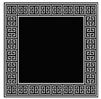 Wunderschöner Luxus Teppich aus 100% Neuseeland-Wolle mit Mäander Muster, Schwarz/Weiss, Samtweich 300 x 300 cm - Hochwertige Qualität