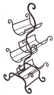 Casa Padrino Designer Weinregal aus Metall Rostfarbe H 59, 8 cm, B 26, 5 cm - Weinflaschenständer - Flaschenablage