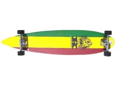 Krown - Longboard Komplettboard Skateboard Rasta Pintail Longboard Complete