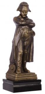 Casa Padrino Deko Napoleon Figur Bronze / Schwarz 11 x 9, 9 x H. 30, 3 cm - Statue auf Marmorsockel