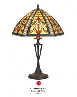 Casa Padrino Tiffany Hockerleuchte Durchmesser 40 cm, Höhe 59 cm Leuchte Lampe