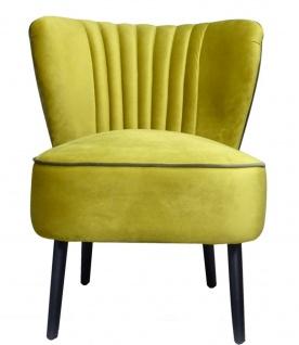 Casa Padrino Luxus Wohnzimmer Sessel Gold 61 x 70 x H. 73 cm - Designer Möbel