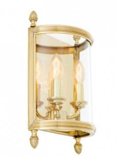 Casa Padrino Luxus Wandleuchte Messing Durchmesser 21 x 11 x H 34, 5 cm - Luxus Leuchte