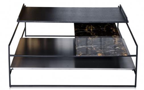 Casa Padrino Luxus Couchtisch Schwarz 100 x 100 x H. 39, 5 cm - Designer Wohnzimmertisch