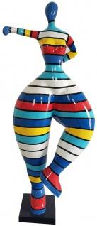 Casa Padrino Designer Deko Skulptur Frau beim Sport Mehrfarbig H. 132 cm - Dekofigur - Gartendeko Skulptur - Gartenfigur